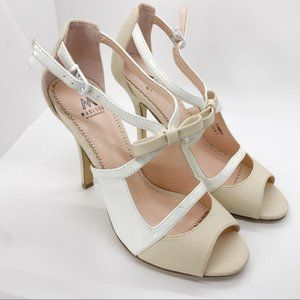 Madison by Shoedazzle Embry White Cream Heels